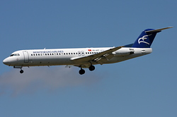 Fokker 100 (F-28-0100) Montenegro Airlines 4O-AOT