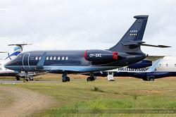 Falcon 2000LX Saxo Bank OY-SKL