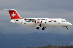 British Aerospace Avro RJ100 Swiss European Air Lines HB-IYT