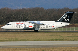 British Aerospace Avro RJ100 Swiss European Air Lines HB-IYU