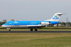 Fokker F70 KLM Cityhopper PH-KZV