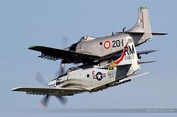 Douglas AD-4N Skyraider F-AZHK & F-AZDP
