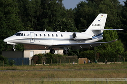 Cessna 680 Citation Sovereign Plus Aerowest Flugcharter D-CARO