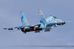 Sukhoi Su-27UB Ukrainian Air Force 71 Blue