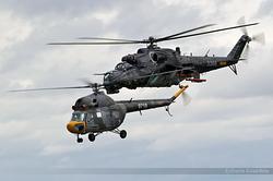 Mil Mi-2 Czech Republic Air Force 0718 & Mil Mi-35 Czech Republic Air Force 3366
