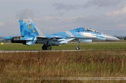 Sukhoi Su-27UB Ukrainian Air Force 67 Blue