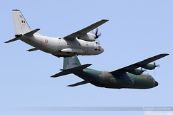 Lockheed C-130B Hercules Romanian Air Force 6166 & Alenia C-27J Spartan Romanian Air Force 2703