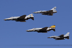 McDonnell Douglas F-4E Phantom II, Dassault Mirage 2000EG & General Dynamics F-16C Fighting Falcon Hellenic Air Force