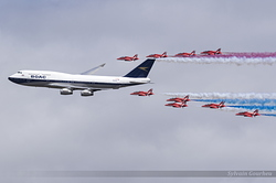 Boeing 747-436 British Airways G-BYGC & Red Arrows
