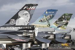General Dynamics F-16AM Fighting Falcon Belgian Air Force FA-101 , FA-57 & FA-124