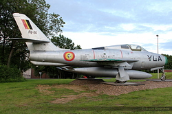 Republic F-84F Thunderstreak Belgium Air Force FU-66